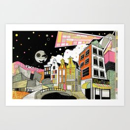 Amsterdam to Hollywood Art Print