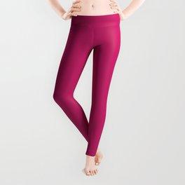 Pink Peacock Pattern Leggings