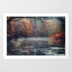 between fall & winter Art Print