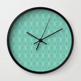 hopscotch-hex sea Wall Clock