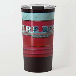Fire Boss - Fort Worth - Fire Engine Red and Chrome Travel Mug