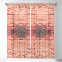 Strawberry Firethorn Quad IV by Chris Sparks Sheer Curtain