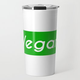 Vegan (green background) Travel Mug