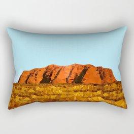 uluru polygon Rectangular Pillow