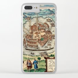 Map Of Mexico City 1580 Clear iPhone Case