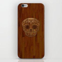 Wooden Sugar Skull iPhone Skin