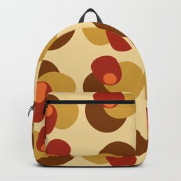 Four Shape Pile Up Red Orange Backpack