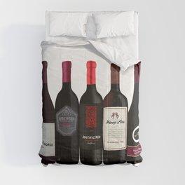 Red Wine Bottles Comforters