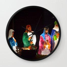 The Nativity Wall Clock