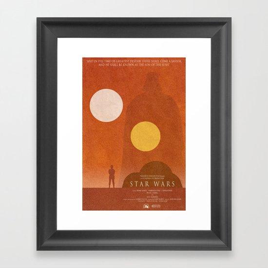 A New Hope Movie Poster Framed Art Print