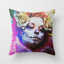 Da de los Muertos Throw Pillow