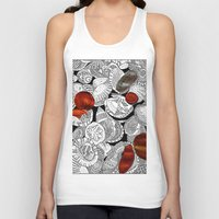 shells Tank Tops featuring Shells by EmilyGrantDesign