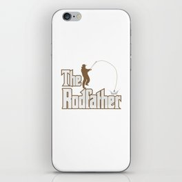 Funny Rodfather Fishing Angling Fishermen Gift iPhone Skin