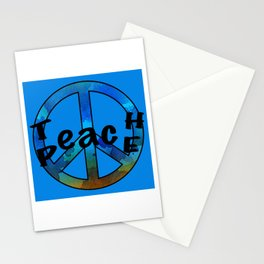 Watercolor Teach Peace Stationery Cards