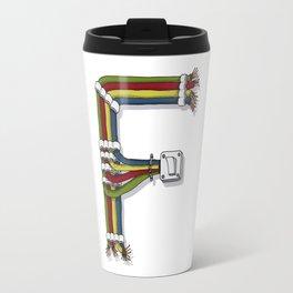 MACHINE LETTERS - F Travel Mug