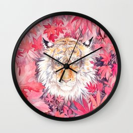 Autumn Tiger Wall Clock