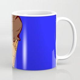 A Chocolate Ice Cream Cone with Blue Background, Summer Fun Coffee Mug