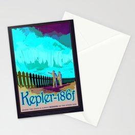 Kepler-186f - NASA Space Travel Poster (Alt) Stationery Cards