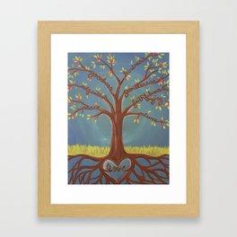 Fruits of the Spirit Tree Framed Art Print