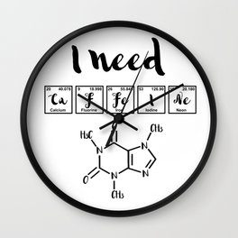 I need caffeine Wall Clock