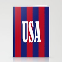 usa Stationery Cards featuring USA by Caio Trindade
