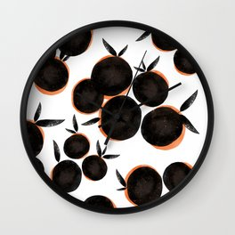 Black is the new Orange Wall Clock
