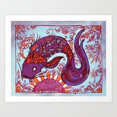 Space Koi koi Art Print