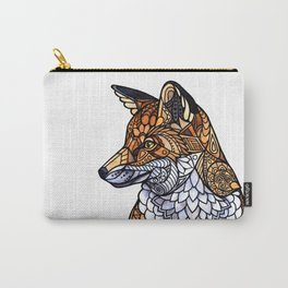 Stained Glass Fox Carry-All Pouch