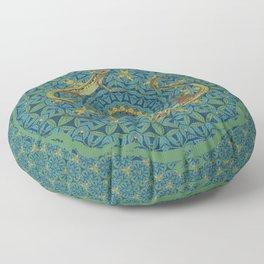 The green lizard Floor Pillow