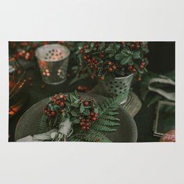 Holly and Greens (Color) Rug