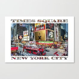 Times Square II (widescreen poster on white) Canvas Print