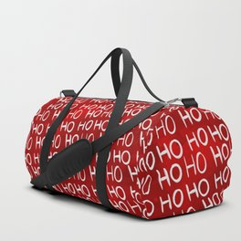 Ho Ho Ho Christmas typography red watercolor pattern Duffle Bag