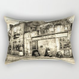 The Anchor Pub London Vintage Rectangular Pillow