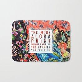Aloha Print Life Bath Mat