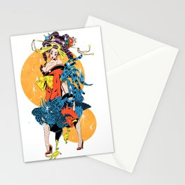 cocktail oiran girl Stationery Cards