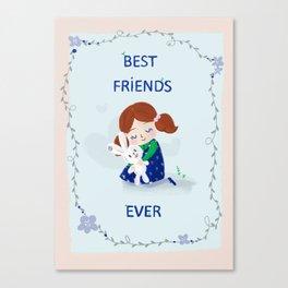 Best Friends Ever Canvas Print