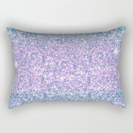 Blue & Lilac Mermaid Glitter Ombre Rectangular Pillow