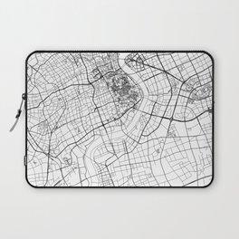 Shanghai White Map Laptop Sleeve