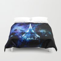 paris Duvet Covers featuring paRis galaxy dreams by 2sweet4words Designs