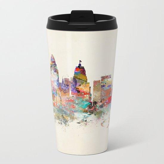 cincinnati ohio skyline Metal Travel Mug