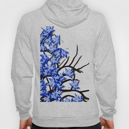 Maple Leaves Blue Hoody