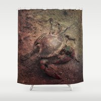 crab Shower Curtains featuring Crab Nebula by Distortion Art