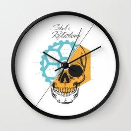 Skull'sReflections Wall Clock