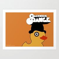 A Quackwork Orange Art Print