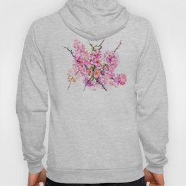 Cherry Blossom pink floral texture spring colors Hoody