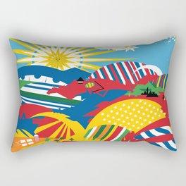 Flagscapes: World Farmscape Rectangular Pillow
