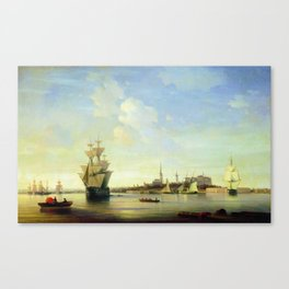 The Reval by Ivan Aivazovsky Canvas Print