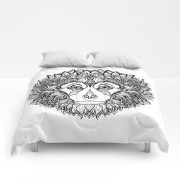 MONKEY head. psychedelic / zentangle style Comforters