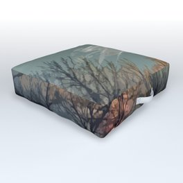 Wooded Sunset Outdoor Floor Cushion