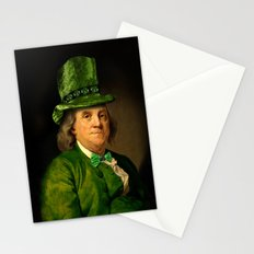 St Patrick's Day for Lucky Ben Franklin Stationery Cards